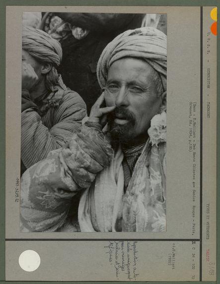 Tête d'Ouzbek [portrait d'homme]