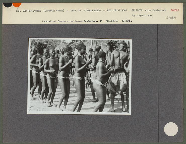 Funérailles Boubou : les danses funéraires.