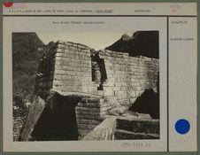Machu-Pichu. Bâtiment semi-circulaire.