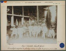 Employés européens du plantage Erima