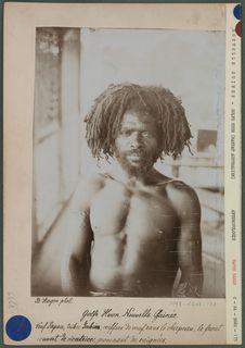 Veuf Papou, tribu Yabim, coiffure de veuf