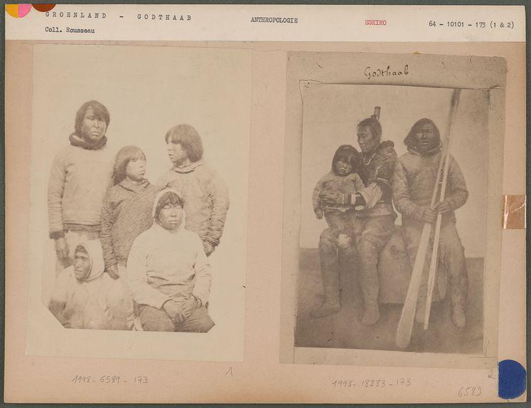 Groupes d'Eskimos, du district de Godthaab