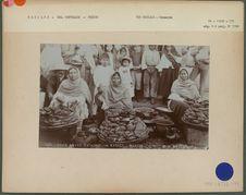 Dried sweet potatoes in market