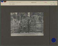 Papua de l'hinterland de la baie de Humboldt allant à la guerre