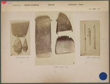 Objets trouvés avec les squelettes envoyés le 13 décembre 1876
