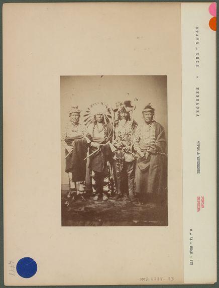 Groupe de chefs Poncas