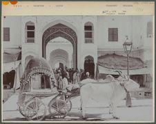 Voiture devant le collège du Maharajah