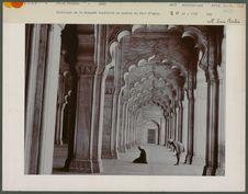 Intérieur de la Mosquée impériale en marbre du fort d' Agra