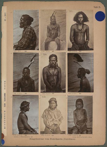 Eingeborene von Ruk-Inseln (Carolinen)