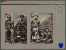 Tahitiens vendant les fruits de l'arbre à pain
