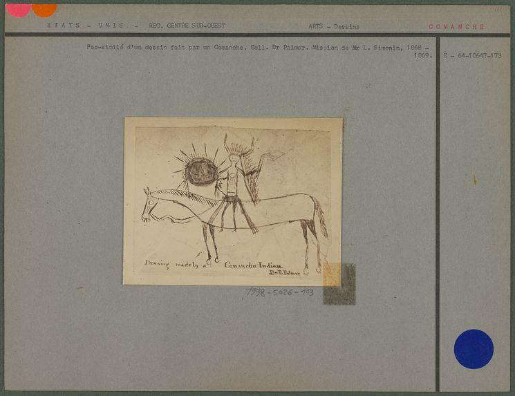 Fac-similé d'un dessin fait par un Comanche
