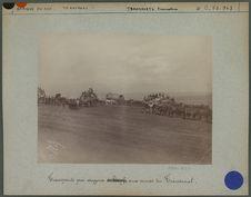 Transports par wagons aux mines du Transvaal.