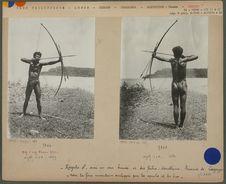 Négrito homme avec un arc