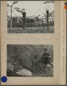 Représentation d'Anito armés de lances en bois