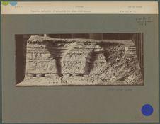 Maquette des puits d'extraction des silex néolithiques