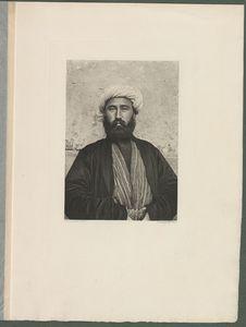 Un Ouzbeg de Djisak portant un vêtement de drap