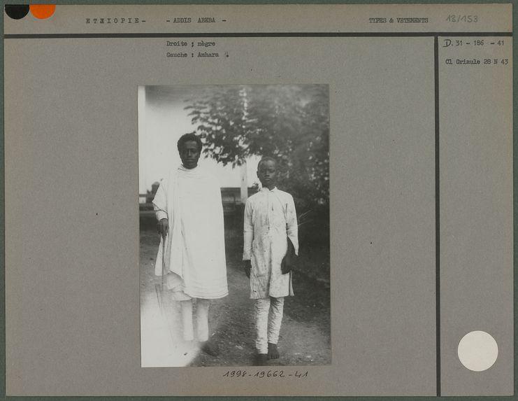Amhara et un nègre