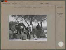 Leiris et Schaeffner au campement de Niamey