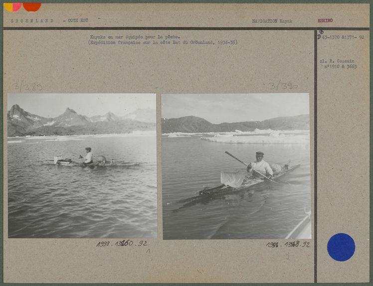 Kayaks en mer