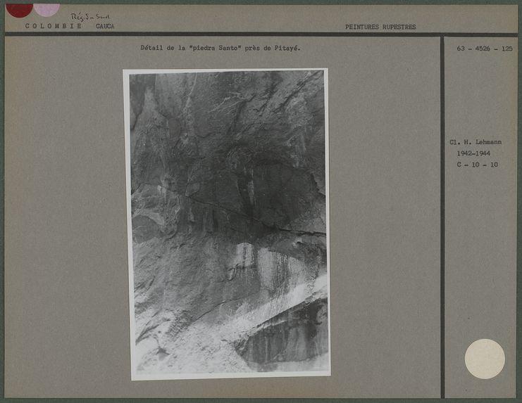 """Détail de la """"piedra Santo"""" près de Pitayé"""