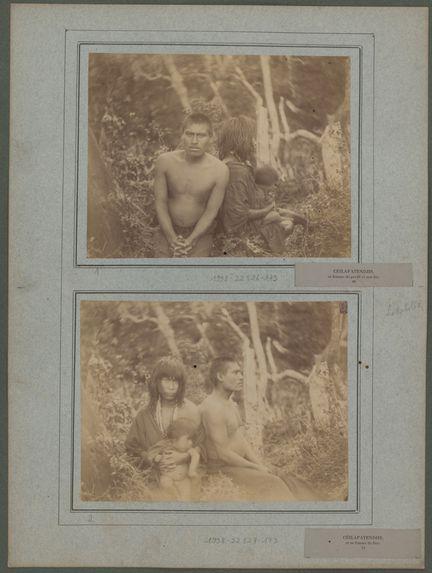 Céilapatendjis, sa femme de profil et son fils