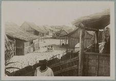 Un coin du village indigène
