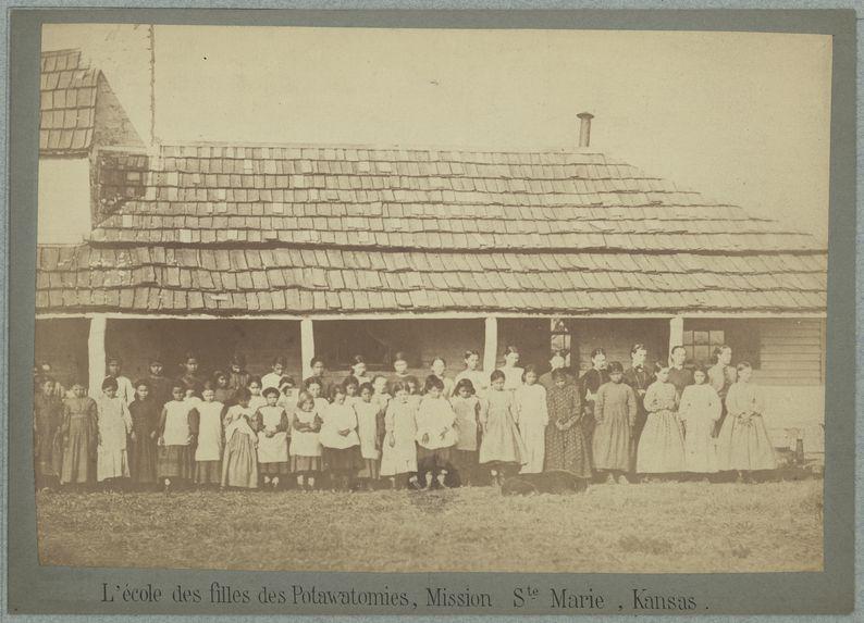 L'école des filles des Potawatomies