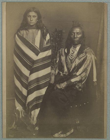Vieil indien crow et sa femme