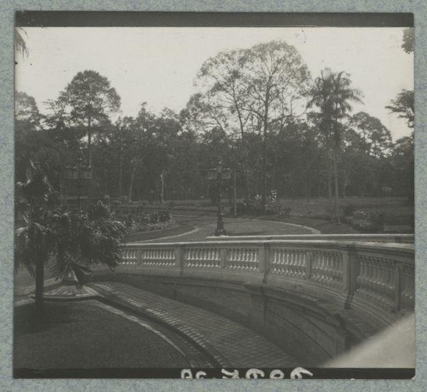 Vue du jardin du gouvernement, Saigon