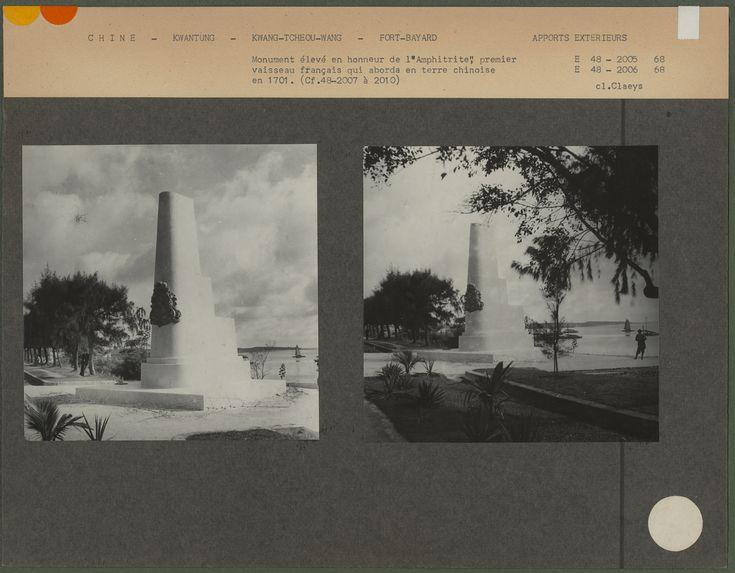 """Monument élevé en honneur de """"l'Amphitrite&quot"""