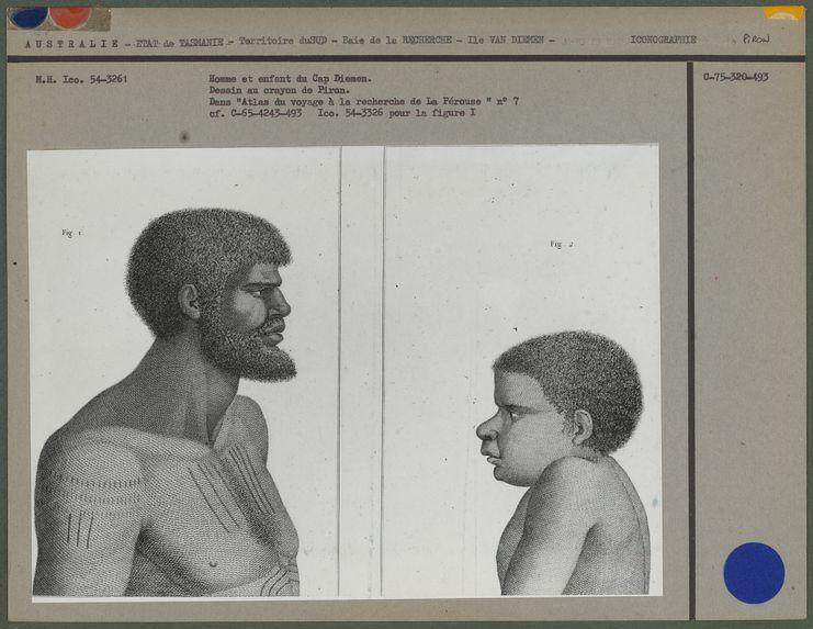 Homme et enfant du Cap Diemen