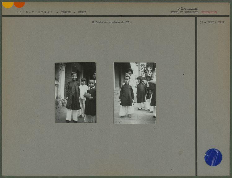 Enfants amanites en costume du Têt
