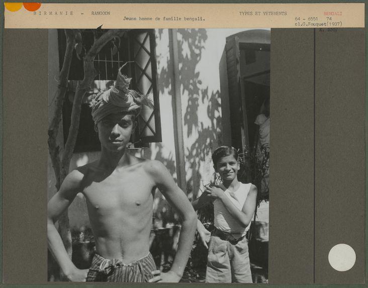Jeune homme de famille bengali