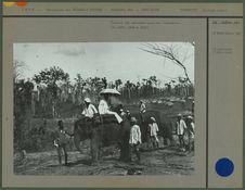 Travail des convicts avec des éléphants