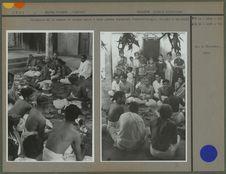 Cérémonie de la remise du cordon sacré à deux jeunes brahmines vishnouites