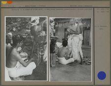 Cérémonie de la remise du cordon sacré, à deux jeunes brahmines vishnouites
