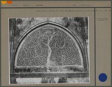 Fenêtre dans la muraille de la Sidi Saïd Masjid, construite en pierre gris