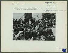 Cérémonies du couronnement du roi Mahendra en mai 1956
