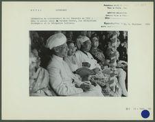 Cérémonies du couronnement du roi Mahendra en 1956