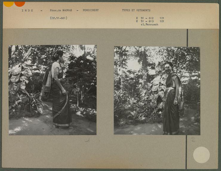 Femme élégante en sari