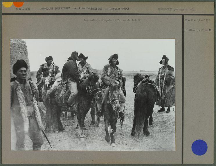 Les soldats mongols du Prince de Talat