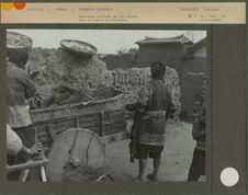 Charrette utilisée par les maçons dans la région de Yunnanfou