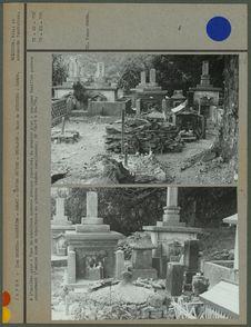 Type de sépulture moderne presque japonisé et ancien mode de sépultures en...