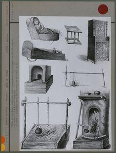 Pièces de mobilier et de chauffage