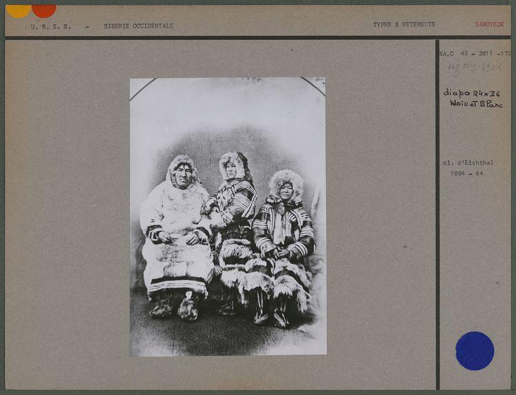 Ivan Khanikoff, Alexandra, Catiana. Famille Samoyède de Merzen.