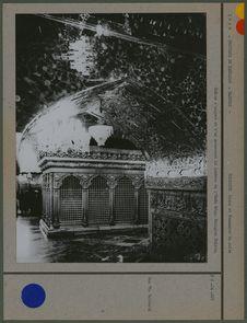 Châsse d'argent et d'or entourant le tombeau de l'Emâm Réza