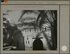 Décor de briques en façade dans le quartier des ouled Hadef