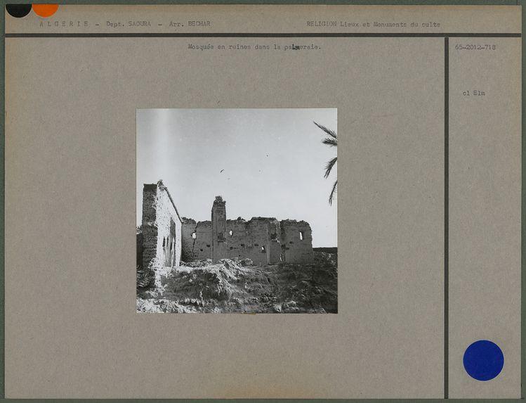 Mosquée en ruines dans la palmeraie
