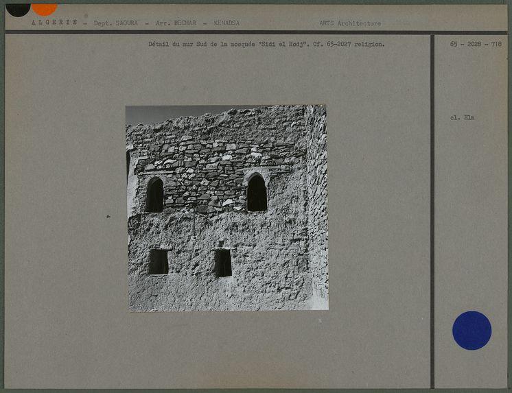 Détail du mur Sud de la mosquée Sidi el Hodj
