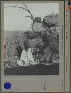 Préparation des aliments par un noir du Tassili